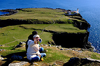 Isle of Skye Loch general view of the cliffs, the sea and the lighthouse at Neist point<br /> Scotland May 8th - 19th. Trip across Scotland<br /> Foto Samantha Zucchi Insidefoto