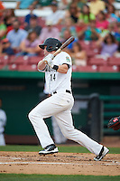 Kane County Cougars first baseman Marty Herum (14) at bat during a game against the Great Lakes Loons on August 13, 2015 at Fifth Third Bank Ballpark in Geneva, Illinois.  Great Lakes defeated Kane County 7-3.  (Mike Janes/Four Seam Images)