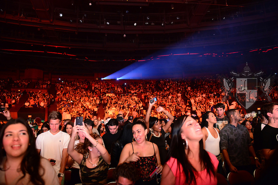 MIAMI, FL - SEEPTEMBER 10:General View during J. Cole   'What Dreams May Come' kicks off tour at the James L. Knight Center on September 10, 2013 in Miami, Florida. (Photo by Johnny Louis/jlnphotography.com)