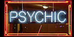 Psychic neon sign, Joshua Tree, California