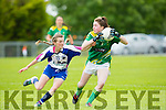 Eilis Lynch, Kerry looks to set up another attack during their clash with Waterford in the Munster Championship game in Brosna on Saturday.
