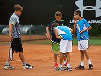 August 6, 2014, Netherlands, Rotterdam, TV Victoria, Tennis, National Junior Championships, NJK,  line discussion<br /> Photo: Tennisimages/Henk Koster
