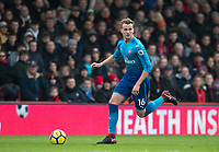 Rob Holding of Arsenal during the Premier League match between Bournemouth and Arsenal at the Goldsands Stadium, Bournemouth, England on 14 January 2018. Photo by Andy Rowland.