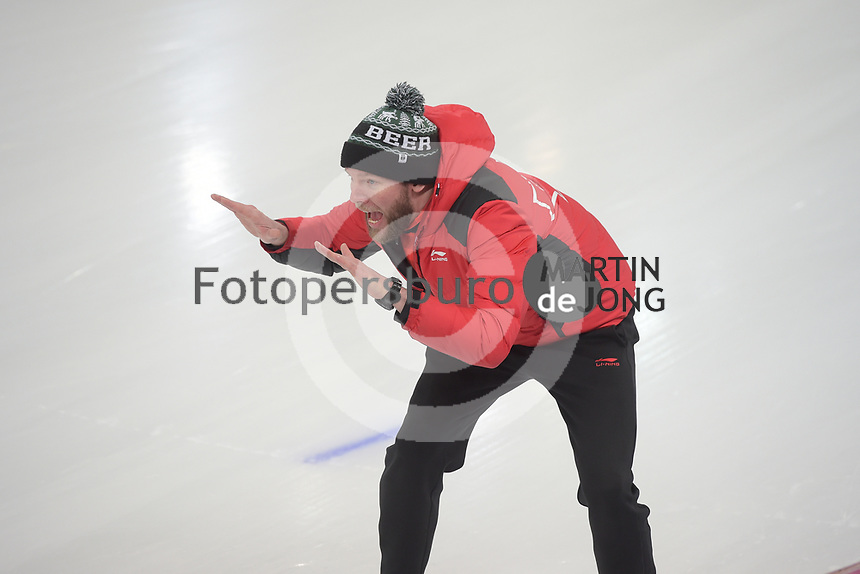 SPEED SKATING: HAMAR: Viking Skipet, 01-02-2019, ISU World Cup Speed Skating, Remmelt Eldering (trainer/coach Canada), ©photo Martin de Jong