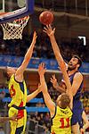 XXXVIII Lliga Nacional Catalana ACB 2017.<br /> FC Barcelona Lassa vs BC Morabanc Andorra: 89-70.<br /> David Walker, Jaka Blazic &amp; Pierre Oriola.