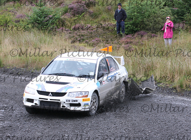 Mike Faulkner - Peter Foy at Junction 3 on Special Stage 4 J & B Print Arroch Hill of the GWF Energy Merrick Stages Rally 2013, Round 7 of the RAC MSA Scotish Rally Championship which was organised by Machars Car Club and Scottish Sporting Car Club and based in Wigtown on 7.9.13.