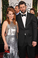 Julianne Moore &amp; Bart Freundlich at the 72nd Annual Golden Globe Awards at the Beverly Hilton Hotel, Beverly Hills.<br /> January 11, 2015  Beverly Hills, CA<br /> Picture: Paul Smith / Featureflash