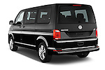 Car pictures of rear three quarter view of 2016 Volkswagen Multivan Comfortline BMT 5 Door Passenger Van Angular Rear
