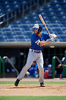 Toronto Blue Jays Johnny Aiello (28) at bat during an Instructional League game against the Philadelphia Phillies on September 23, 2019 at Spectrum Field in Clearwater, Florida.  (Mike Janes/Four Seam Images)