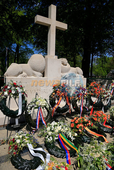Grebbeberg Military Cemetery on the route of Stage 2 of the 2016 Giro d'Italia running 190km from Arnhem to Nijmegen, The Nethrerlands. 7th May 2016.<br /> Picture: Eoin Clarke | Newsfile<br /> <br /> <br /> All photos usage must carry mandatory copyright credit (&copy; Newsfile | Eoin Clarke)
