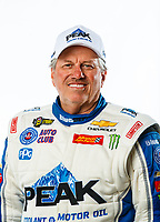 Feb 7, 2018; Pomona, CA, USA; NHRA funny car driver John Force poses for a portrait during media day at Auto Club Raceway at Pomona. Mandatory Credit: Mark J. Rebilas-USA TODAY Sports