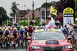 Km0 the start of Stage 6 of the 2019 Tour de France running 160.5km from Mulhouse to La Planche des Belles Filles, France. 11th July 2019.<br /> Picture: ASO/Pauline Ballet | Cyclefile<br /> All photos usage must carry mandatory copyright credit (© Cyclefile | ASO/Pauline Ballet)