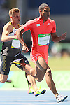 Aska Cambridge (JPN), <br /> AUGUST 13, 2016 - Athletics : <br /> Men's 100m Round 1 <br /> at Olympic Stadium <br /> during the Rio 2016 Olympic Games in Rio de Janeiro, Brazil. <br /> (Photo by YUTAKA/AFLO SPORT)