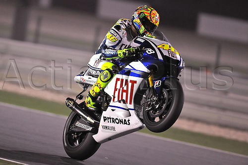 10 04 2010  ImagePhoto GN Losail Qatar 10 04 2010  Libere MotoGP Photo Giorgio   Valentino Rossi . Action from the FIM MotoGP Qatar World Cup.