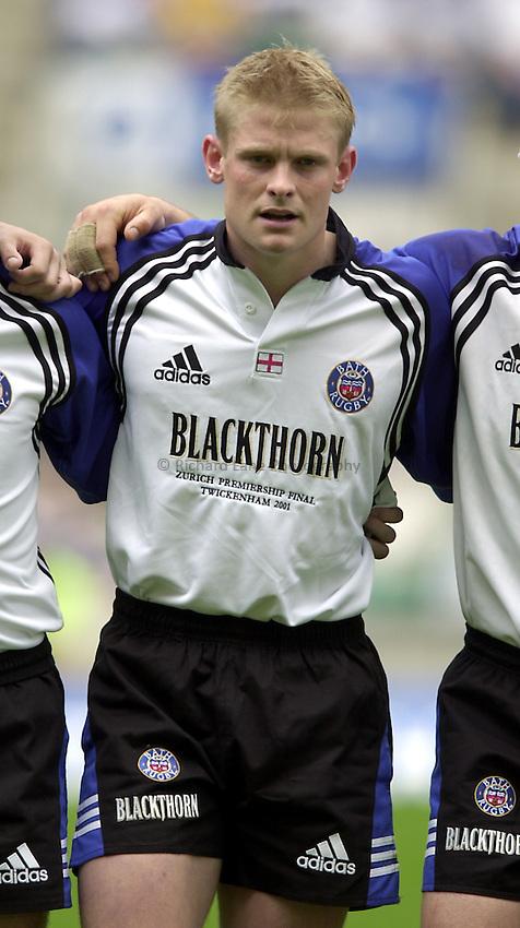 Photo. Richard Lane. .Leicester Tigers v Bath. The Zurich Championship Final at Twickenham. 13/5/2001..Iain Balshaw.