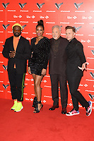 "Will.i.am, Jennifer Hudson, Sir Tom Jones and Olly Murs<br /> at the launch photocall for the 2019 series of ""The Voice"" London<br /> <br /> ©Ash Knotek  D3468  03/01/2019"