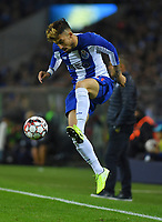 27th October 2019; Dragao Stadium, Porto, Portugal; Portuguese Championship 2019/2020, FC Porto versus Famalicao; Alex Telles of FC Porto keeps the high ball in play