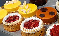 Nederland - Zaandam - 2019.    Het Bakery Institute in de oude Verkadefabriek. Taarten gemaakt door studenten.   Foto mag niet in negatieve / schadelijke context gepubliceerd worden.       Foto Berlinda van Dam / Hollandse Hoogte