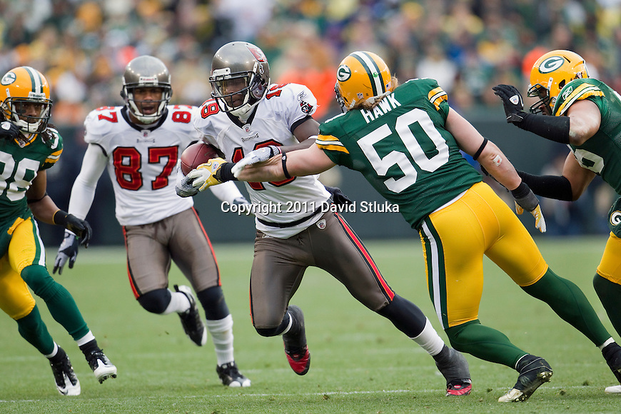 Tampa Bay Buccaneers wide receiver Mike Williams (19) during a Week 11 NFL football game against the Green Bay Packers on November 20, 2011 in Green Bay, Wisconsin. The Packers won 35-26. (AP Photo/David Stluka)