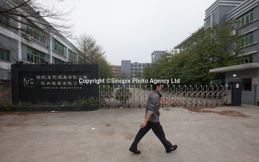 Closed factories are seen near the Yue Yuen Industrial Holdings Limited factory in Dongguan, Guangdong Province, China, 03 March 2015.