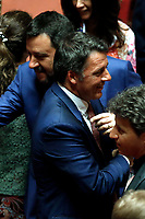 Minister of Internal Affairs Matteo Salvini and former Secretary of Democratic Party Matteo Renzi<br />
