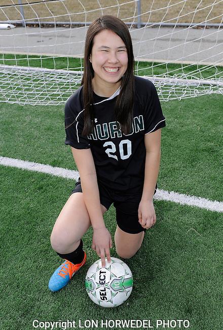 Huron High School girl's varsity soccer team.Huron High School girl's varsity soccer team.