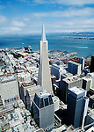 California, San Francisco: The Transamerica Pyramid, as seen from the Bank of America building, in the Financial District..Photo #: 6-casanf362.Photo © Lee Foster 2008