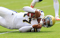 UCLA quarterback Brett Hundley (17) during the game in Charlottesville, VA. Virginia lost to UCLA 28-20. Photo/Andrew Shurtleff