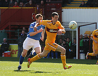 Jamie Murphy on the ball in the Motherwell v St Johnstone Clydesdale Bank Scottish Premier League match played at Fir Park, Motherwell on 28.4.12.