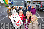 Kay Stack, Mary O'Brien and Phil Gleeson Tralee pensioners on the way to the Budget protest in Cork on Tuesday.