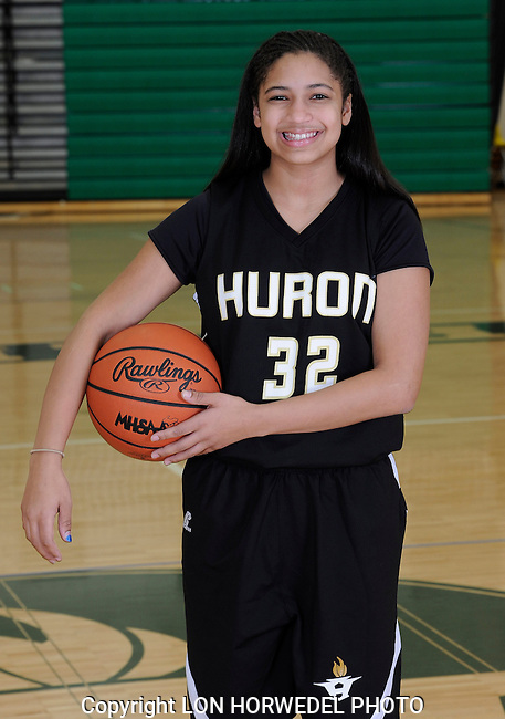 2014-15 Huron High School girl's junior varsity basketball team.