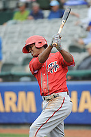 Harrisburg Senators outfielder Michael Taylor (3) during the game against the Trenton Thunder at ARM & HAMMER Park on May 21, 2014 in Trenton, New Jersey.  Harrisburg defeated Trenton 9-0.  (Tomasso DeRosa/Four Seam Images)