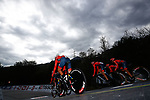 Cogeas - Mettler Pro Cycling Team power off the start ramp during the Women's Team Time Trial of the 2018 UCI Road World Championships running 54.7km from Ötztal to Innsbruck, Innsbruck-Tirol, Austria 2018.<br /> Picture: Innsbruck-Tirol 2018 | Cyclefile<br /> <br /> <br /> All photos usage must carry mandatory copyright credit (© Cyclefile | Innsbruck-Tirol 2018)