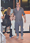 Brad Pitt, Angelina Jolie, Knox and Vivienne, Jul 28, 2013 :  Tokyo, Japan : Brad Pitt, Angelina Jolie and their children Pax, Knox and Vivienne arrive at Tokyo International Airport in Tokyo, Japan on July 28, 2013. (Photo by AFLO)
