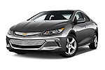 Stock pictures of low aggressive front three quarter view of 2018 Chevrolet Volt LT 5 Door Hatchback Low Aggressive