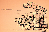 World Civilization:  Catal Huyuk--Plan of  Level VII.  Grid: 10 meters.  C. 6200-6050/6070 B.C.