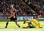 Ched Evans of Sheffield Utd reacts after missing a chance to score during the Championship match at Bramall Lane Stadium, Sheffield. Picture date 16th September 2017. Picture credit should read: Simon Bellis/Sportimage