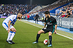 Marco Asensio Willemsen (R) of Real Madrid fights for the ball with Nabil El Zhar of CD Leganes during the Copa del Rey 2017-18 match between CD Leganes and Real Madrid at Estadio Municipal Butarque on 18 January 2018 in Leganes, Spain. Photo by Diego Gonzalez / Power Sport Images