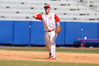 March 23, 2010:  Third Baseman Brad Hallberg of the Ohio State University Buckeyes during a game at the Chain of Lakes Stadium in Winter Haven, FL.  Photo By Mike Janes/Four Seam Images