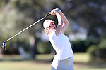WILMINGTON, NC - OCTOBER 27: Penn State's Madelein Herr on the 14th tee. The first round of the Landfall Tradition Women's Golf Tournament was held on October 27, 2017 at the Pete Dye Course at the Country Club of Landfall in Wilmington, NC.