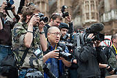 Press photographers at work at a rally organised by the Taxpayers Alliance,  Westminster.