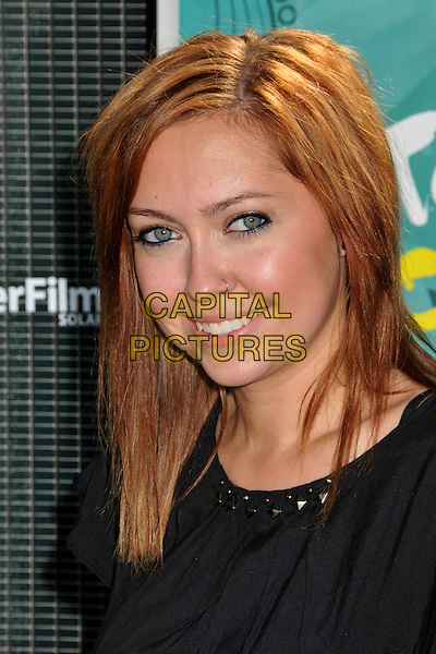 BRANDI CYRUS.Teen Choice Awards 2009 - Arrivals held at the Gibson Amphitheatre, Universal City, CA, USA..August 9th, 2009.headshot portrait black.CAP/ADM/BP.©Byron Purvis/AdMedia/Capital Pictures.