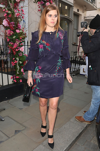 Princess Beatrice of York is pictured leaving the Beulah London Boutique store in Chelsea, London.<br /> <br /> MAY 17th 2018. Credit: Matrix/MediaPunch ***FOR USA ONLY***<br /> <br /> REF: MNI 181728