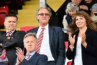 Lincoln City chairman Bob Dorrian (centre, back row) before kick off<br /> <br /> Photographer Chris Vaughan/CameraSport<br /> <br /> The EFL Sky Bet League Two - Lincoln City v Morecambe - Saturday August 12th 2017 - Sincil Bank - Lincoln<br /> <br /> World Copyright &copy; 2017 CameraSport. All rights reserved. 43 Linden Ave. Countesthorpe. Leicester. England. LE8 5PG - Tel: +44 (0) 116 277 4147 - admin@camerasport.com - www.camerasport.com
