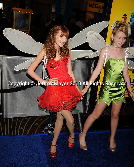 "HOLLYWOOD, CA. - October 30: Bella Thorne arrives at the ""Megamind"" Los Angeles Premiere at Mann Chinese 6 on October 30, 2010 in Los Angeles, California."