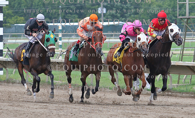 Fifth race at Parx Racing in Bensalem, Pennsylvania August 5, 2012.  Photo By Barbara Weidl/EQUI-PHOTO