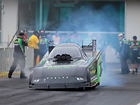Mar 16, 2019; Gainesville, FL, USA; NHRA funny car driver Dave Richards during qualifying for the Gatornationals at Gainesville Raceway. Mandatory Credit: Mark J. Rebilas-USA TODAY Sports