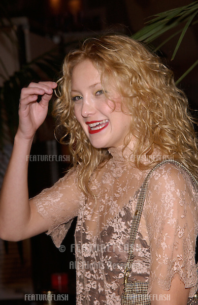 Actress KATE HUDSON at Stars 2001 Gala honoring Jeffrey Katzenberg. The event also marked the grand opening of the new Hollywood & Highland entertainment complex..08NOV2001.  © Paul Smith/Featureflash