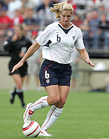 10 July 2005:  Danielle Fotopoulos of USA in action against Ukraine at Merlo Field at University of Portland in Portland, Oregon.    USA defeated Ukraine, 7-0.   Credit: Michael Pimentel / ISI