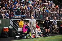 Seattle, WA - Sunday, August 13, 2017: Paul Riley during a regular season National Women's Soccer League (NWSL) match between the Seattle Reign FC and the North Carolina Courage at Memorial Stadium.